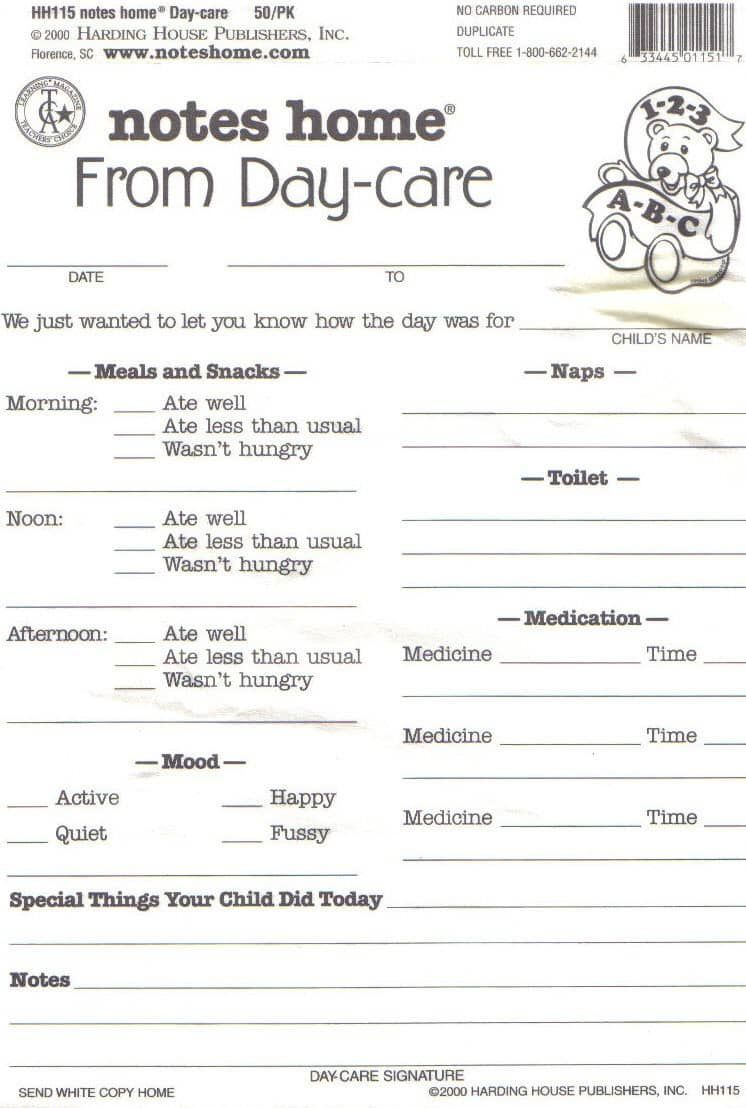 photo regarding Free Printable Infant Daily Sheets titled free of charge printable child day-to-day sheets  youngsters! Daycare