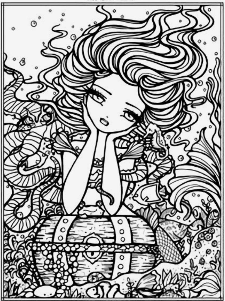 Pin By Letitia Hensley On Hannah Ly Mermaid Coloring Pages Coloring Pages Cool Coloring Pages [ 1024 x 768 Pixel ]