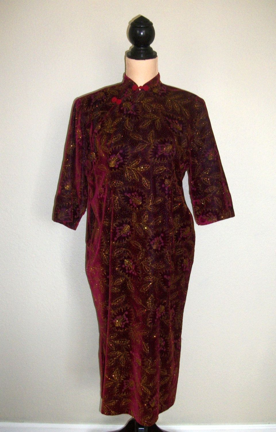 Asian Dress Size Large XL Cheongsam Dress von MintJulepShoppe