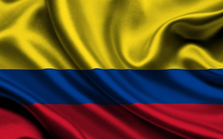 Download Wallpapers Colombian Flag 4k Silk Flag Of Columbia Satin Flags Columbia Flag Bandera De Colombia Banderas Colombia