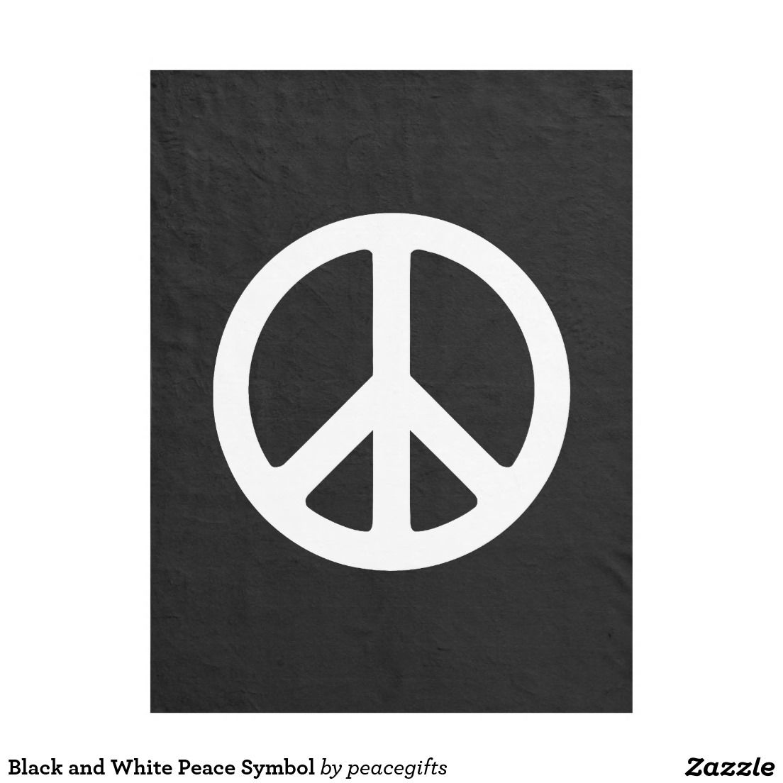 Black And White Peace Symbol Fleece Blanket Symbols And Blanket