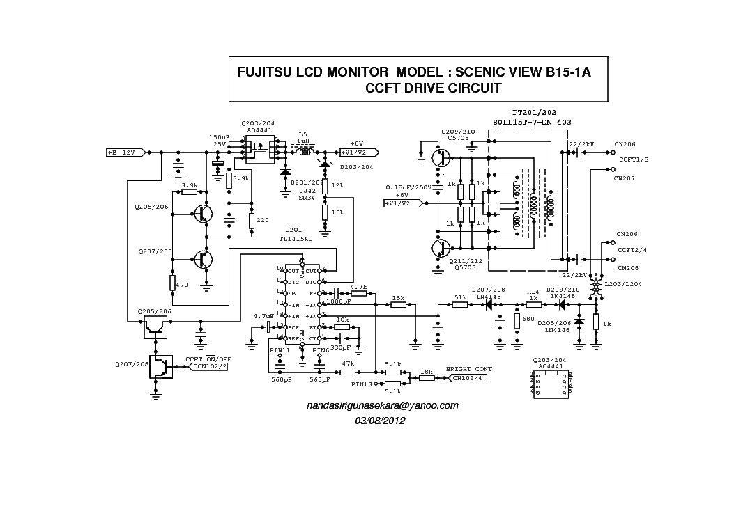 Fujitsu Ctm5020 Monitor Schematics Diagrams Di 2020