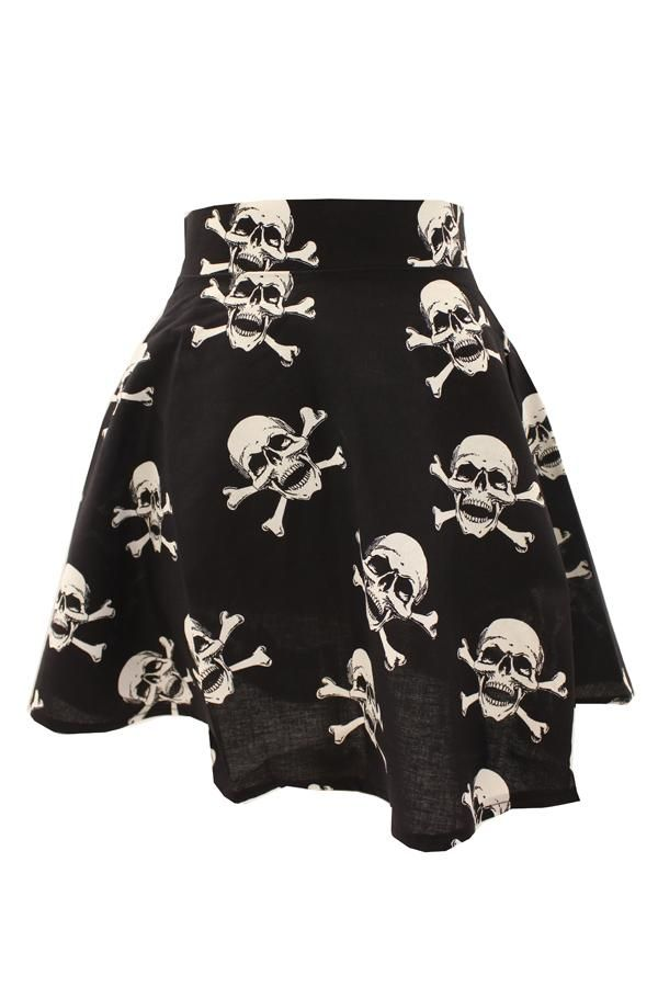 Phaze Skull flared skirt