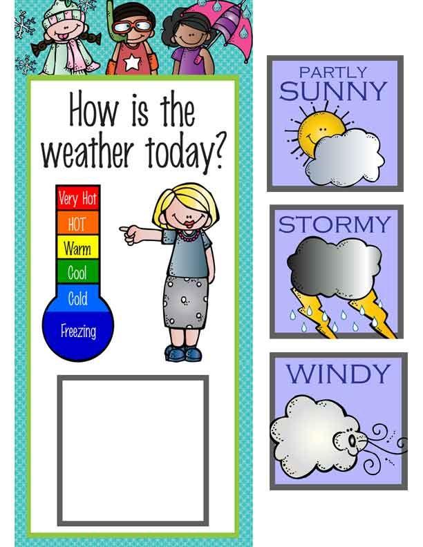 The brainy bunch theme classroom decor weather chart graphics by melonheadz artrageous fun also rh pinterest