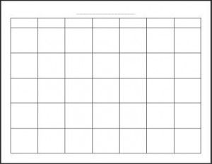 Blank Monthly Calendar Picture      Blank