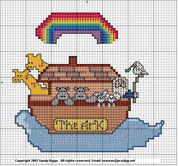 Noah S Ark Cross Stitch Pattern Arca Di No 232 Neonato E
