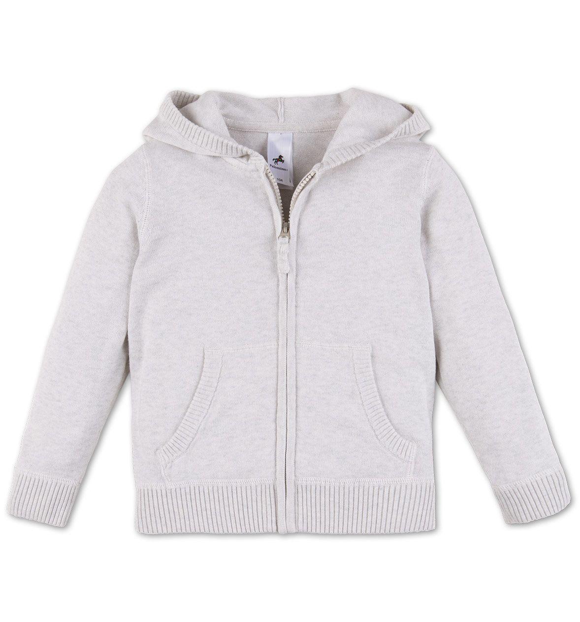 Veste à capuche en maille dans gris clair