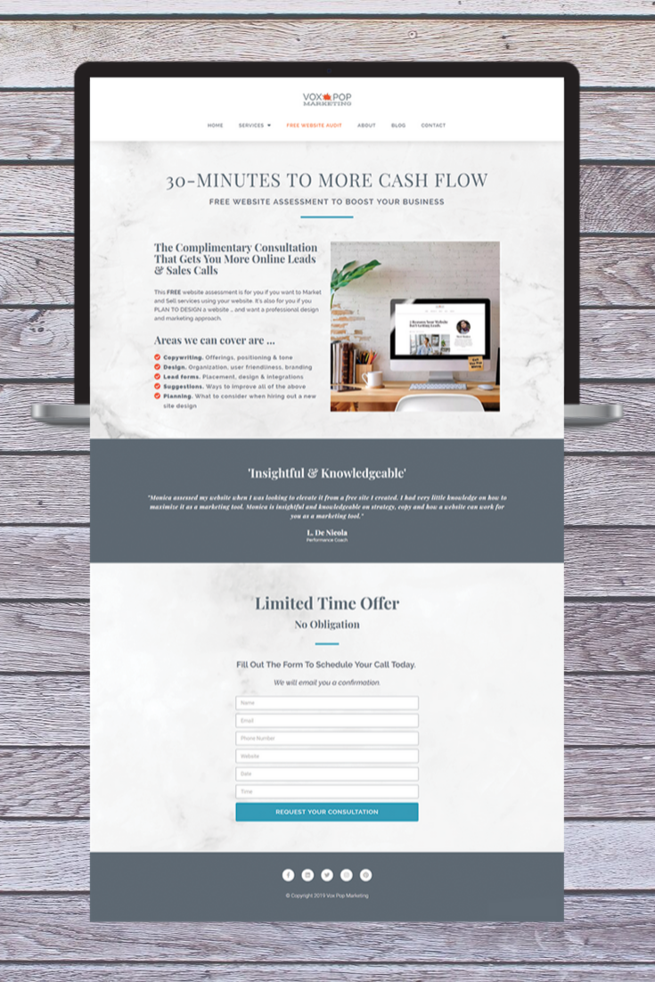 If You Sell Services You Need Landing Pages Here S An Example Of A Landing Page Design You Can Use T Free Website Selling Services Online News Website Design