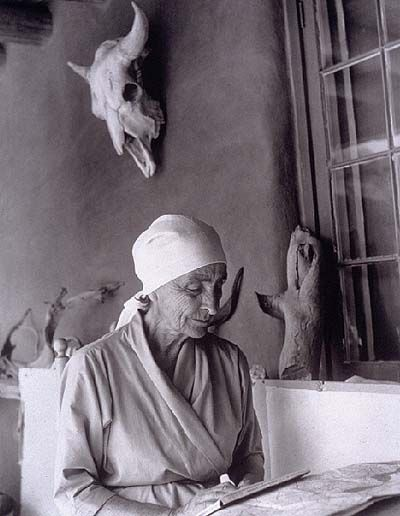 Georgia O'Keeffe (1887-1986) An amazing modern artist, and very independent woman, who left her unique mark in New Mexico, as well as the world of Art.