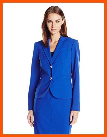 5b2823e0be3 Calvin Klein Women's Two Button Career Blazer, Atlantis, 16 - All about  women (*Amazon Partner-Link)