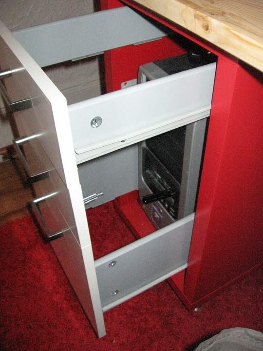 Ikea Hacked Pc Desk Hide Your Tower