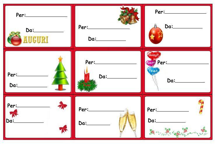 Biglietti Per Regali Di Natale Da Stampare.Assortimento Di Etichette Chiudipacco Per Regali Di Natale Da Stampare Gratis Natale Etichette Natale Regali Di Natale