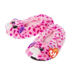 Ty Beanie Boo Glamour the Leopard Slipper Socks 625ac8f7aeca
