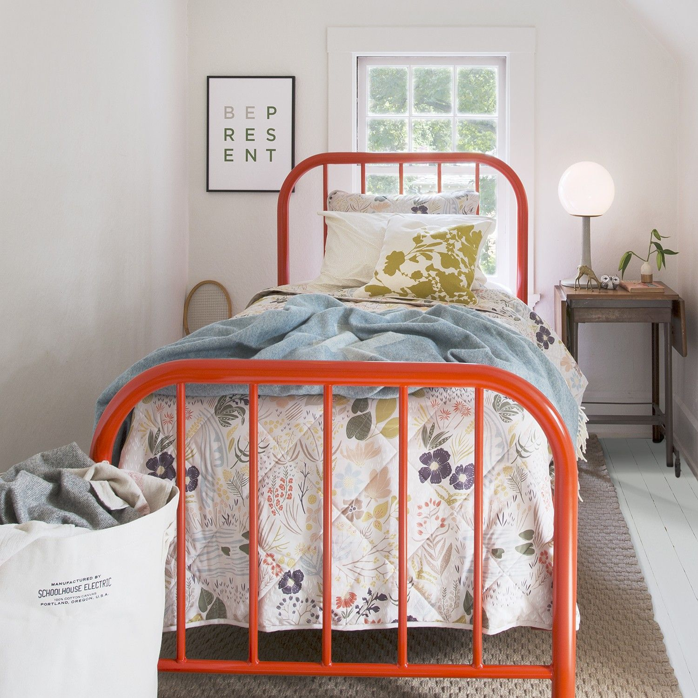 Hamilton Bed Black In 2020 Steel Bed Frame Bed Steel Bed