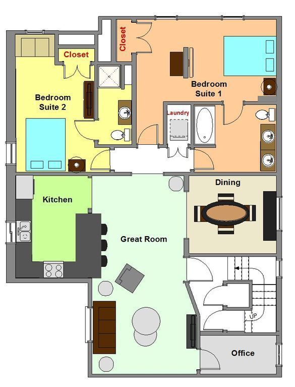 Komplett Möbliertes Apartment Mit Zwei Schlafzimmern