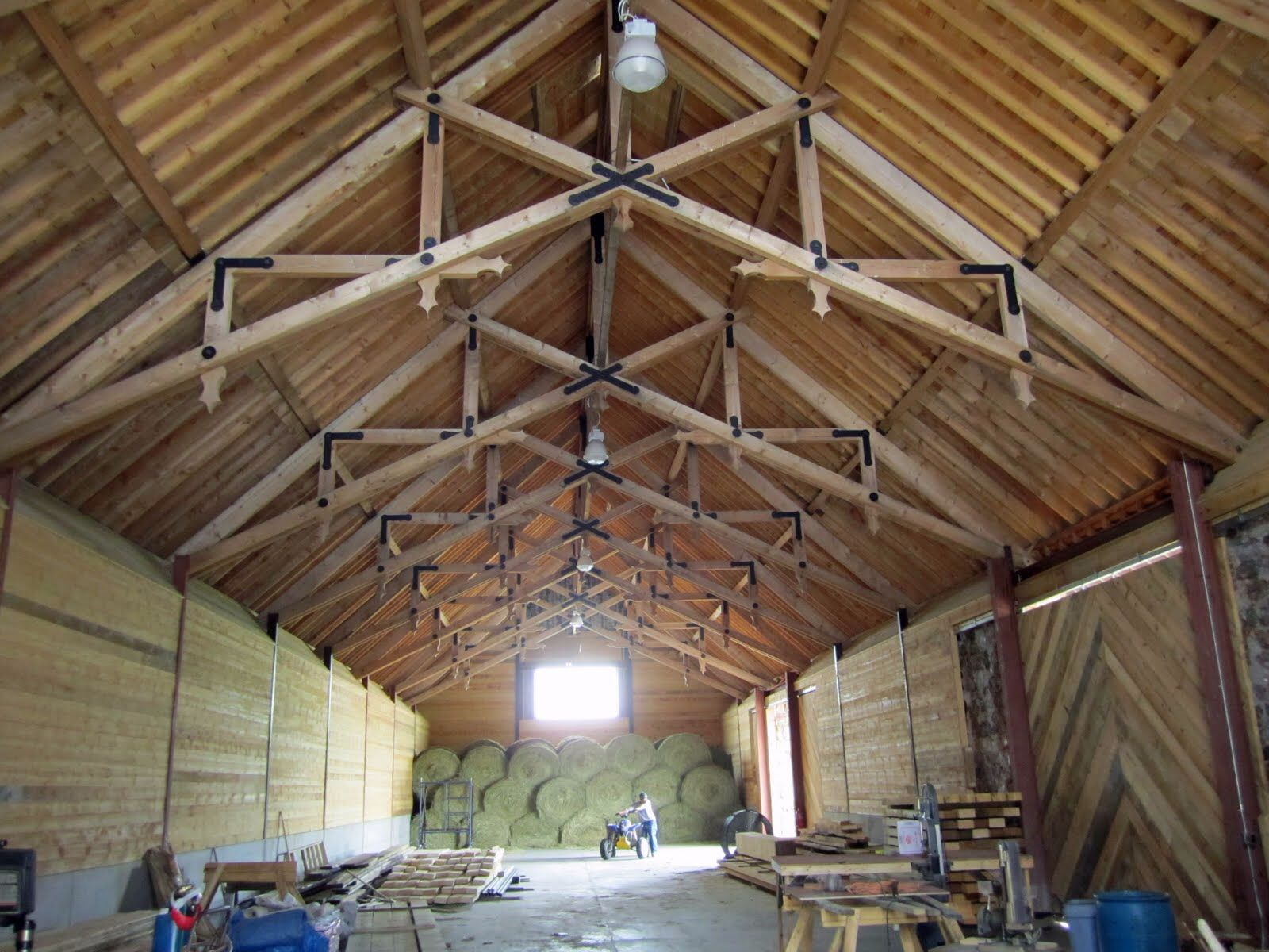 style and pole gable wood is for trim columns it contracting llc barns rafters steel barn with here portfolio patterson open standard item trusses built comes we a