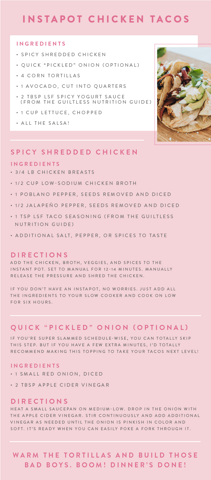 Love Sweat Fitness Love Sweat Fitness Chicken Tacos Workout Meal Plan