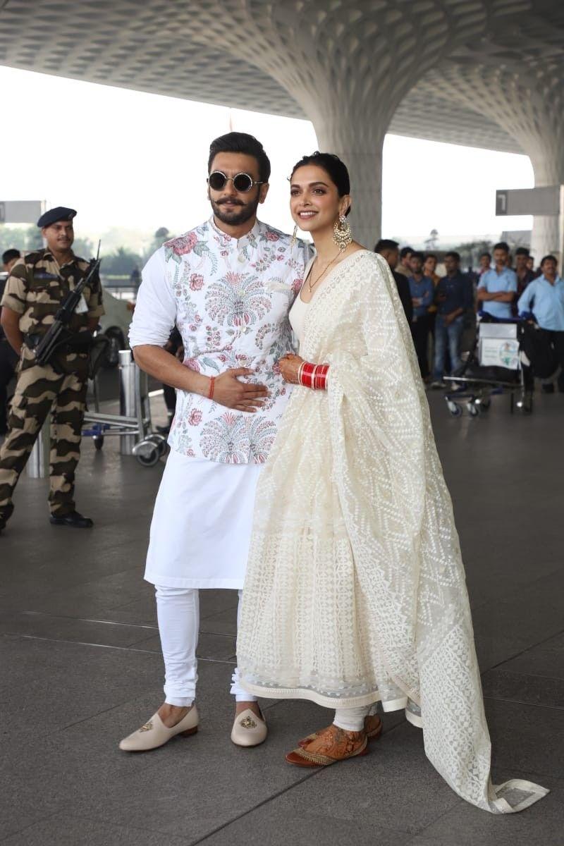 Deepika Padukone With Ranveer Singh Deepveerkishadi Wedding Dresses Men Indian Groom Dress Men Indian Groom Wear