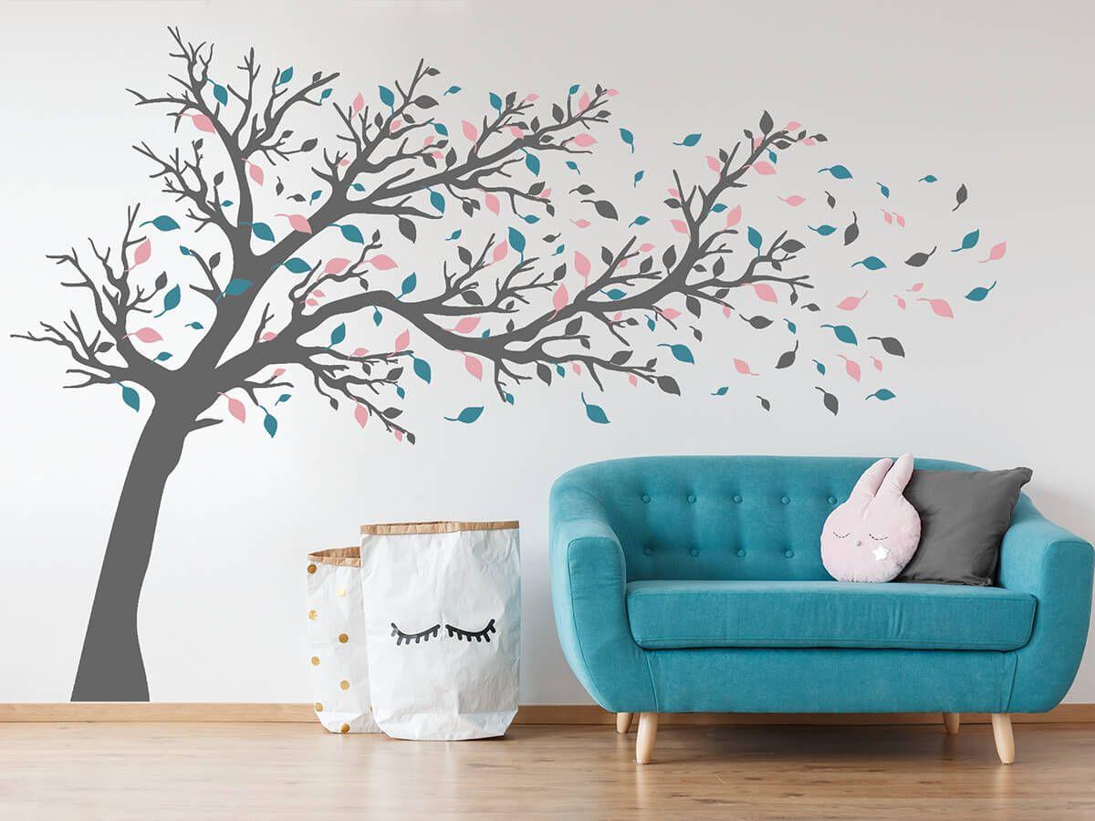 Wandtattoo Groaÿer Baum Im Wind Wandtattoos De Wandtattoo Baum Haus Deko Kinderzimmer Selber Machen