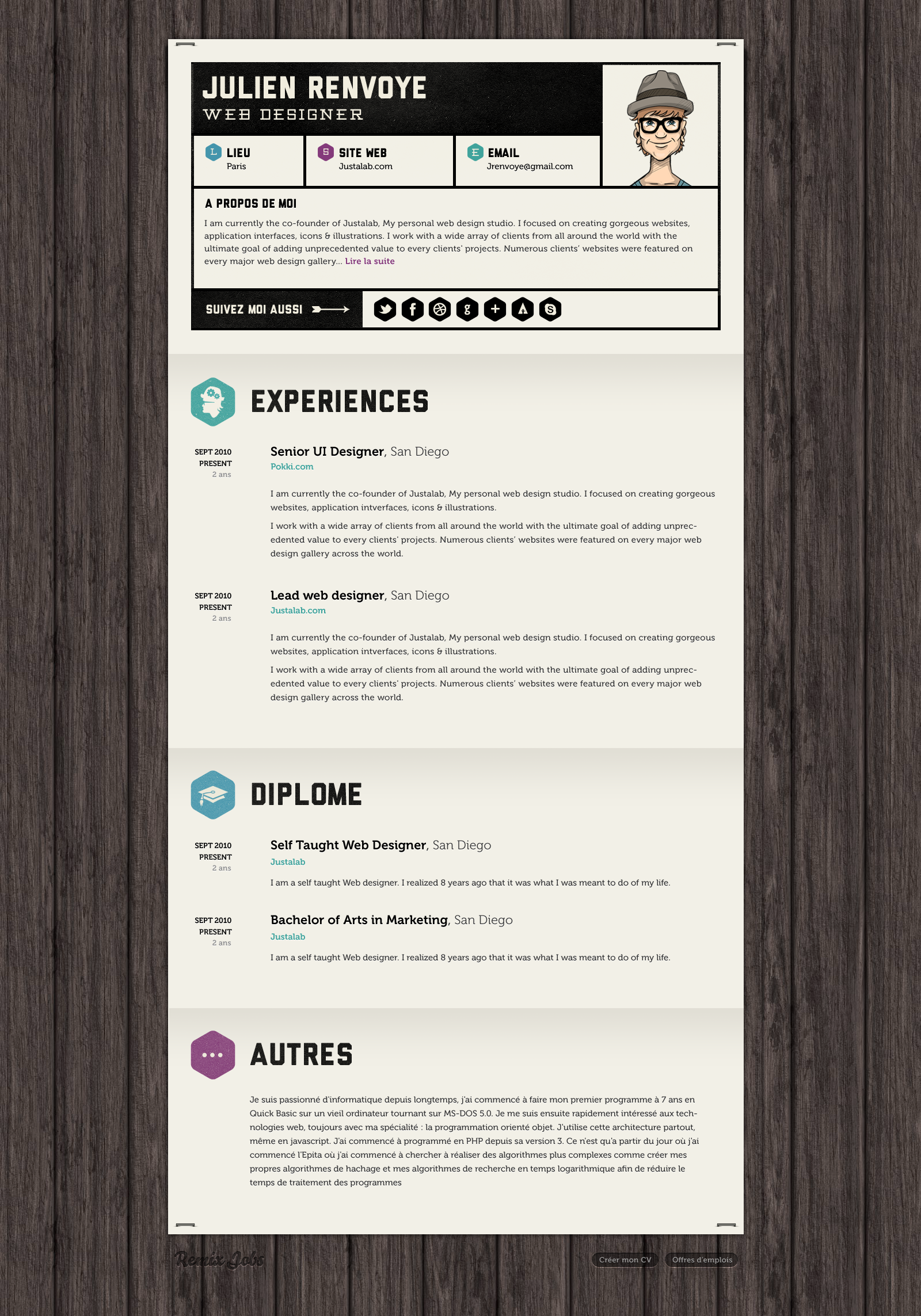 Another Great Resume Concept For More Ideas Search Aaron Sheppard