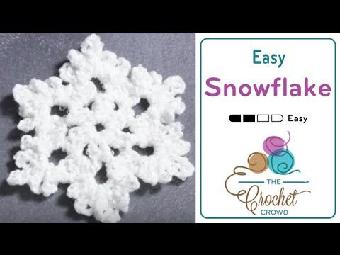 How To Crochet A Snowflake Youtube Crochet Bookmarks
