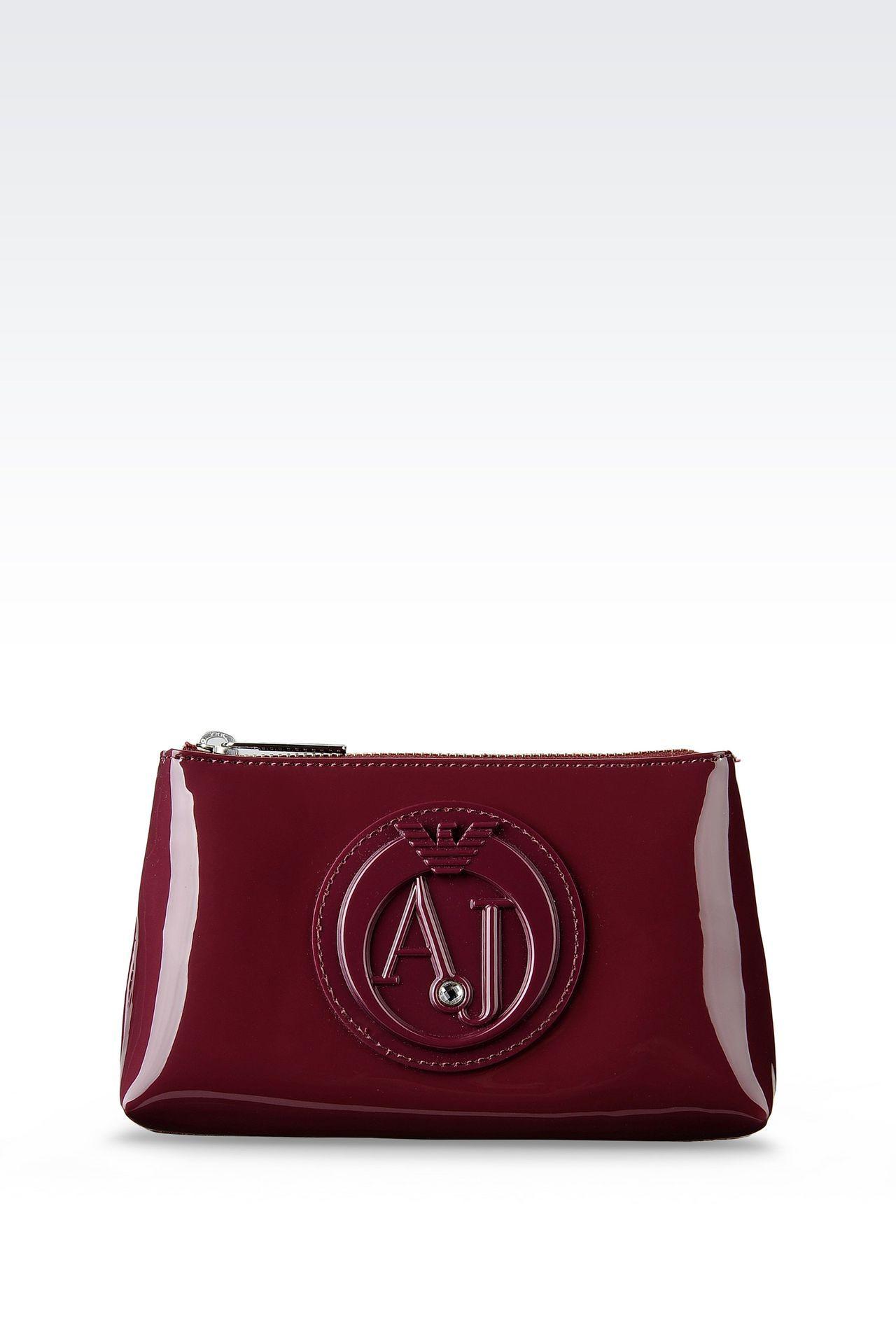 Armani Jeans Women Beauty Case - ECO PATENT LEATHER BEAUTY CASE WITH LOGO Armani  Jeans Official 8a659027c95ed