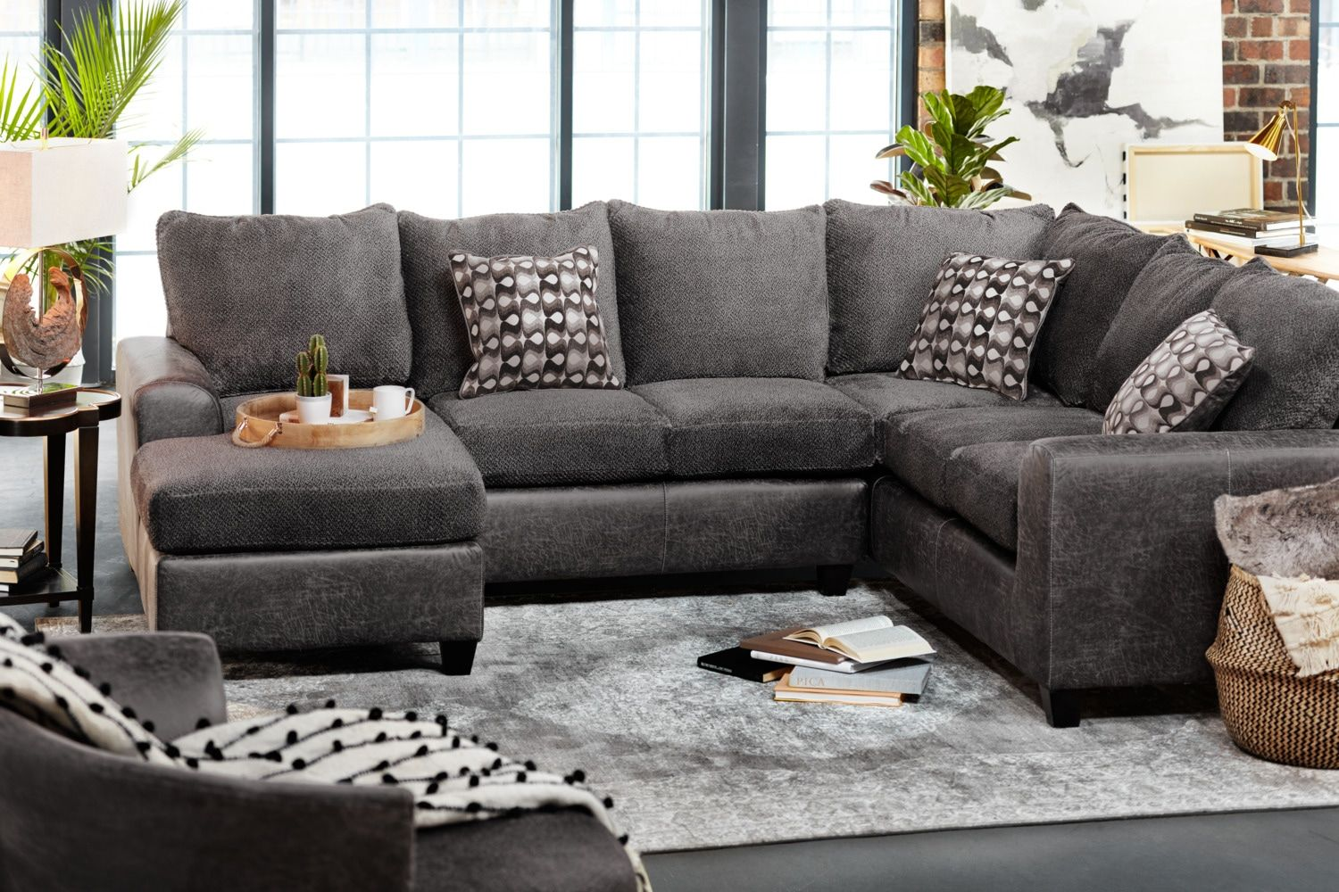 Brando 3 Piece Sectional With Modular Chaise In 2020 3 Piece Sectional Sofa Value City Furniture Living Room Sectional