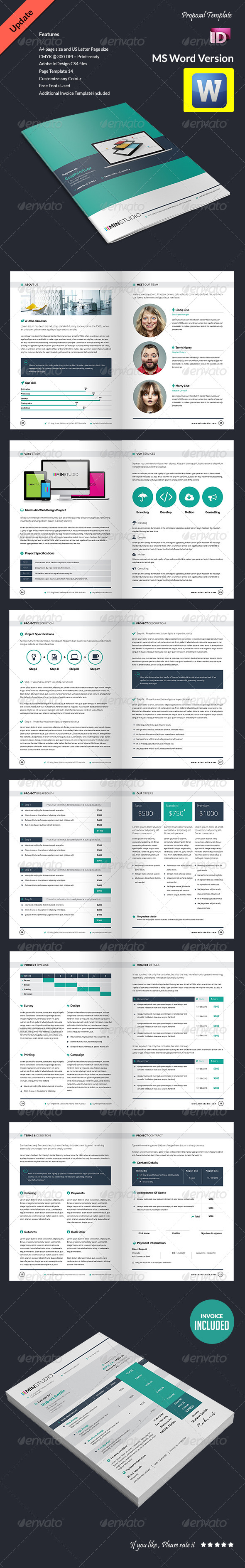 Proposal Template Update Ms Word Version Graphicriver  Word