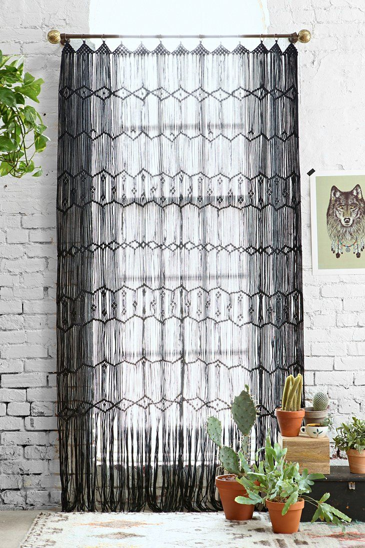 Urban Outfitters Macrame Wall Hanging Crochet Curtains Decor