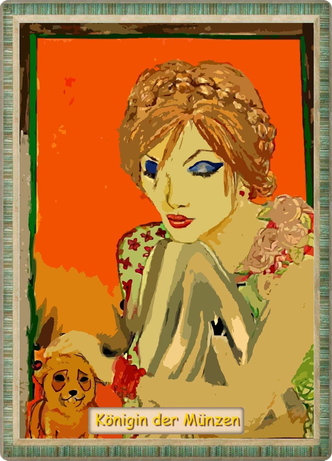 Tarot Karte Die Königin Der Münzen Eine Person In Der Regel Eine