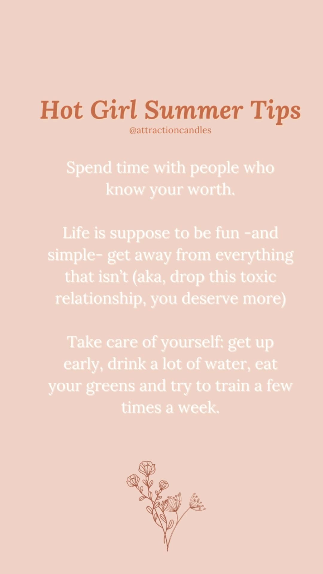 Hot Girl Summer Tips & Advice, Daily Reminder, Know Your Worth, Quotes, #selfdeveloppement, 2021