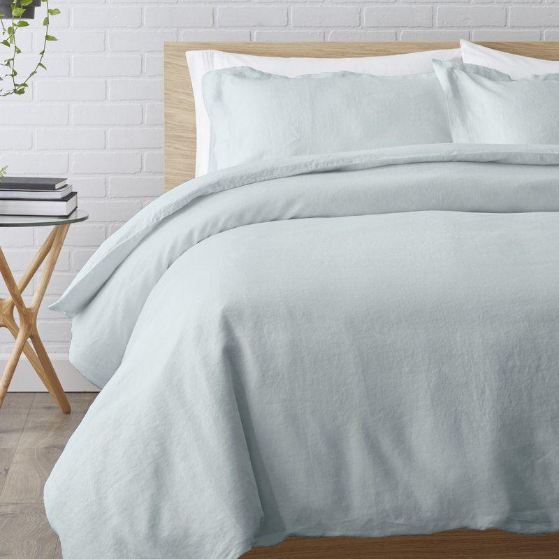 Joss Main Essentials Linen Reversible Duvet Set Duvet Cover Sets Reversible Duvet Covers Home