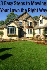 3 Easy steps to mowing your lawn the right way.
