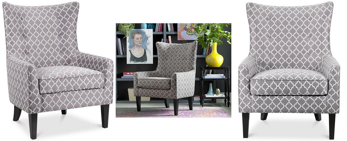 Surprising Brie Printed Fabric Accent Chair Quick Ship Chuck Inzonedesignstudio Interior Chair Design Inzonedesignstudiocom