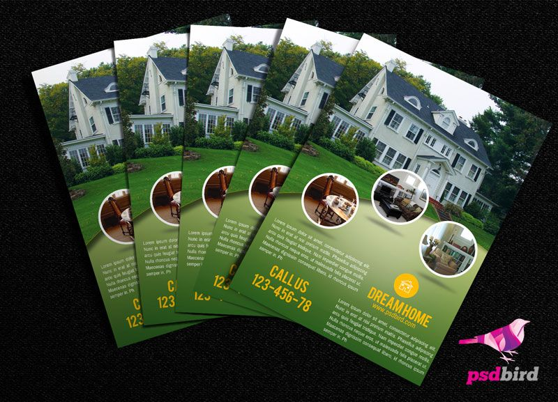 This Is A A4 Free Real Estate Brochure Flyer Psd Template Suitable For Real Estate Business Home Ren Real Estate Brochures Brochure Psd Free Brochure Template