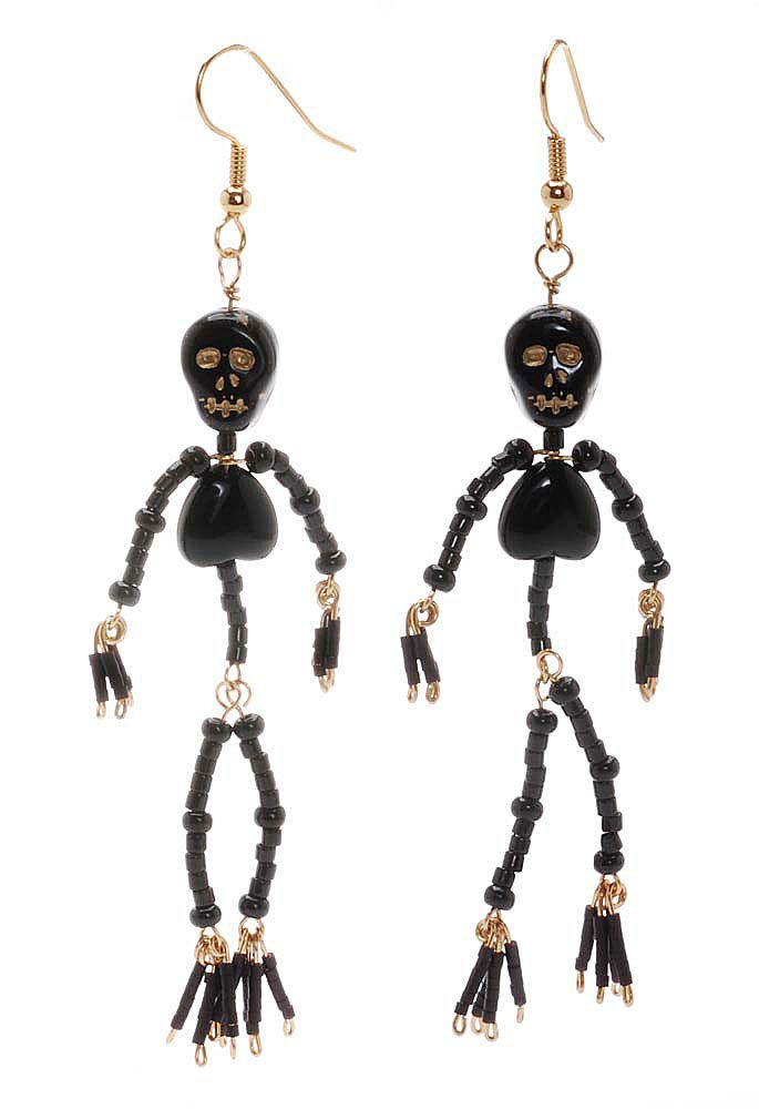 Tutorial - How to: Ded Skelton Earring Project | Beadaholique ...