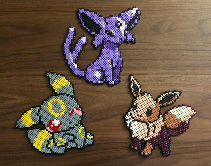 Pokemon evoli mentali noctali perlergeek pixel art - Pokemon noir 2 evoli ...