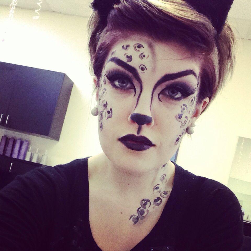 Snow leopard makeup ! Happy halloween | makeup :) | Pinterest ...