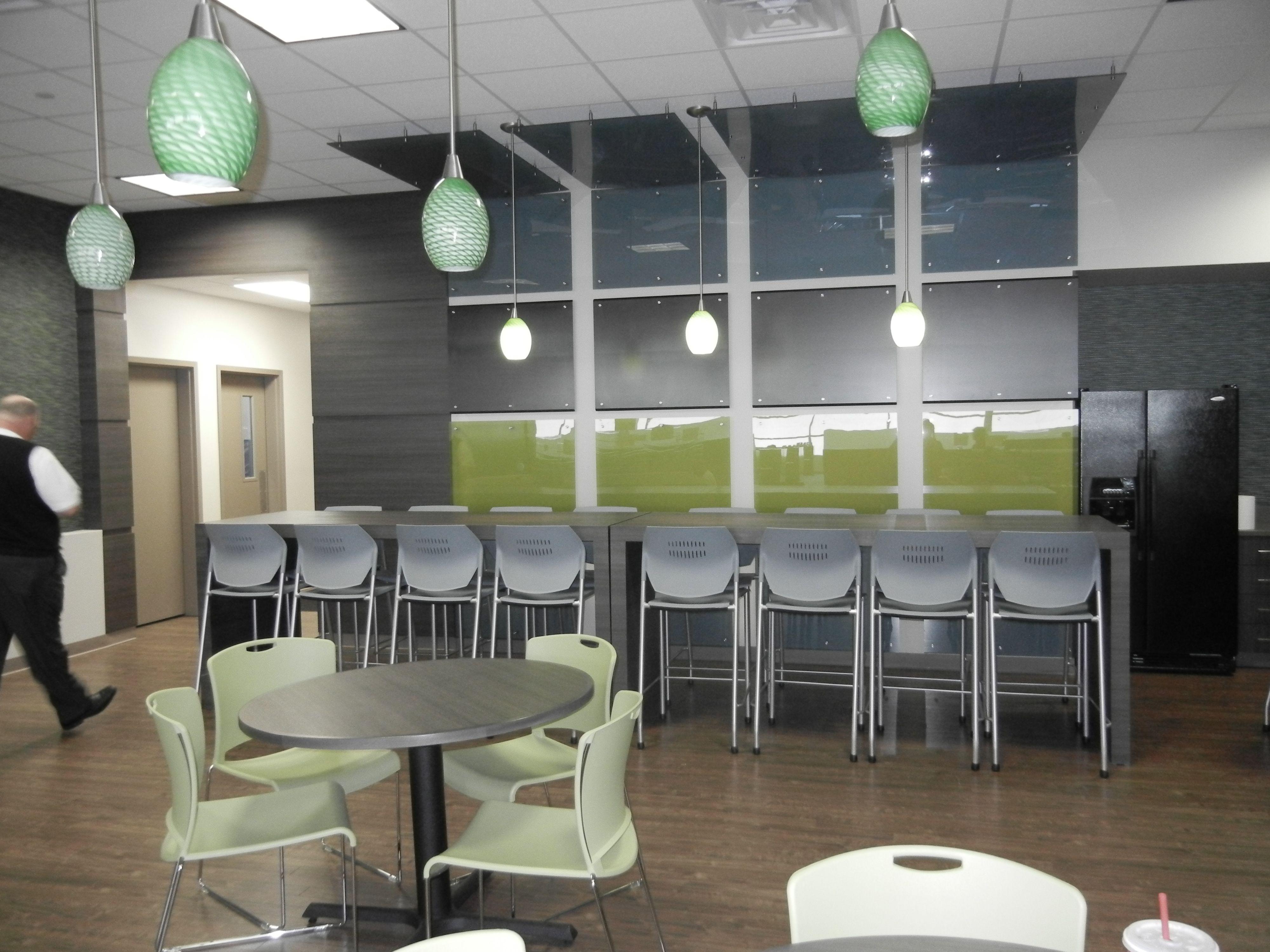 corporate office design interior design inalfa roofing systems technical center by comprehensive design - Linoleum Restaurant Interior