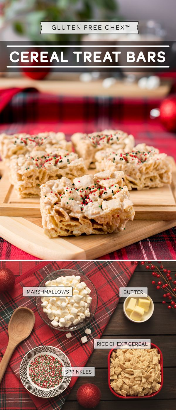 Gluten-Free Chex™ Cereal Treat Bars   Cereal treats ...