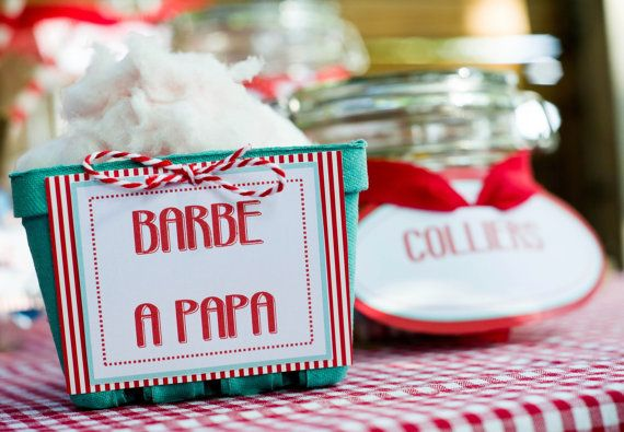 Labels and windmill for Candy bar range | open-air wedding