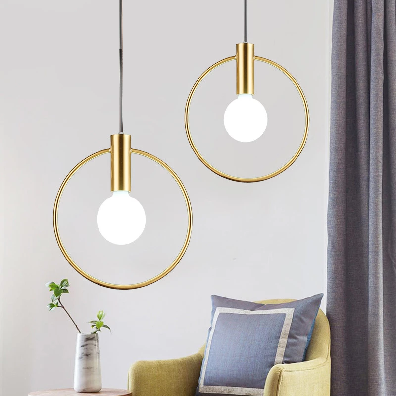 Northern Europe Modern Electroplated Pendant Lighting Ceiling Mini Chandelier Hanging Lamp 1 Lights Fixture Flush Mount Glass Ball Pendant Lighting Ball Pendant Lighting Pendant Lighting
