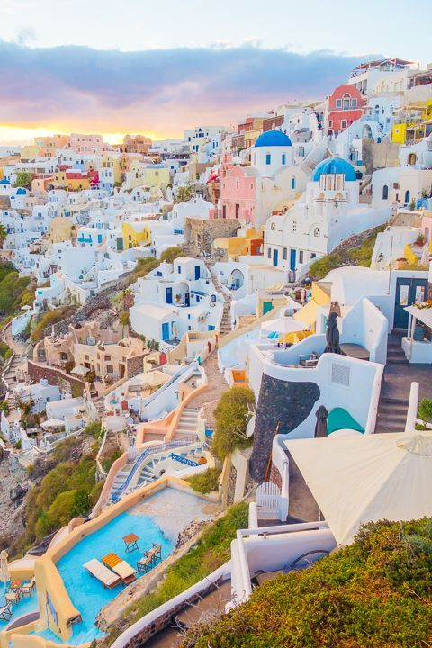 Top 20 Vacation Spots -   13 holiday Places santorini greece ideas