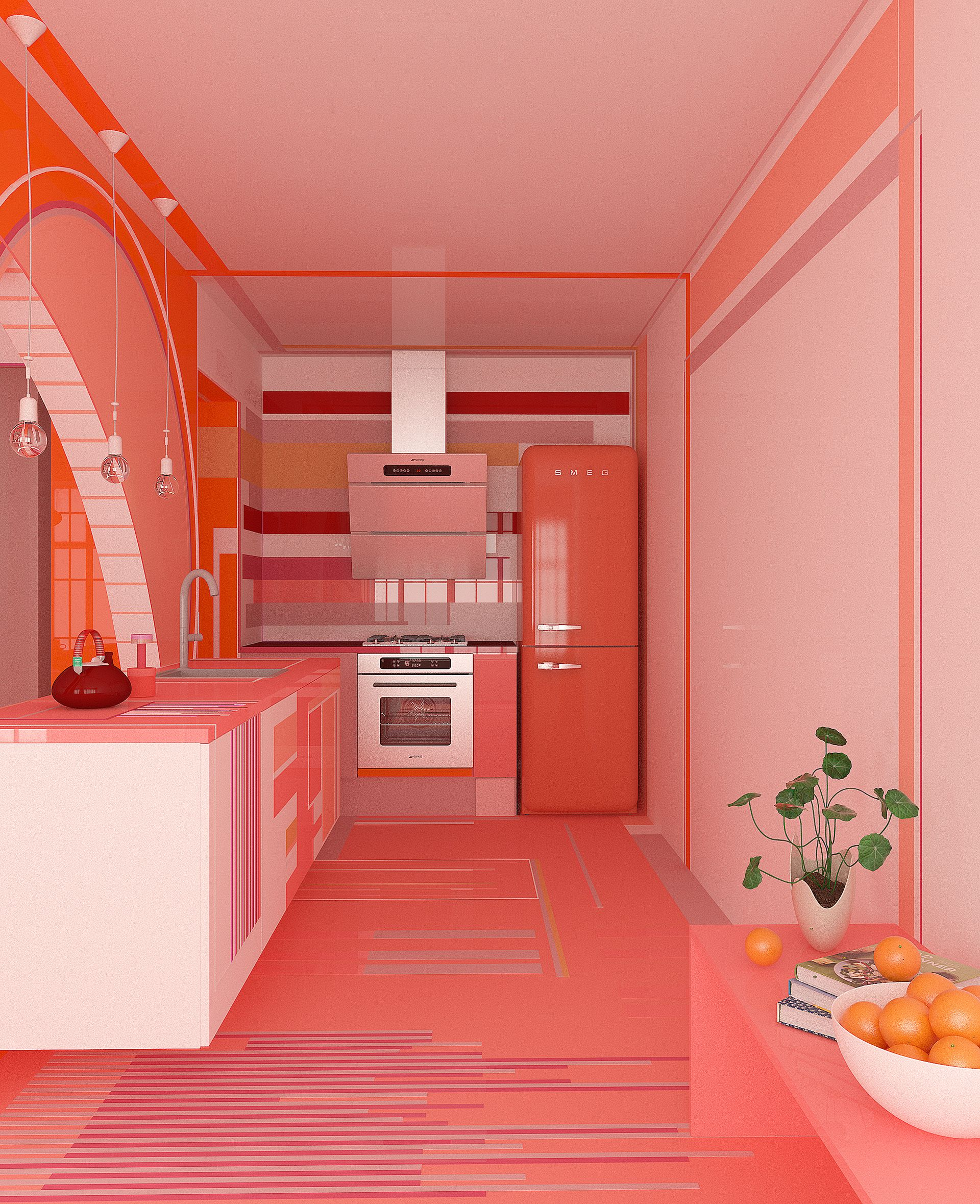 Champagne Pink Kitchen Cabinet Colors Pink Kitchen Decor Kitchen Cabinet Trends