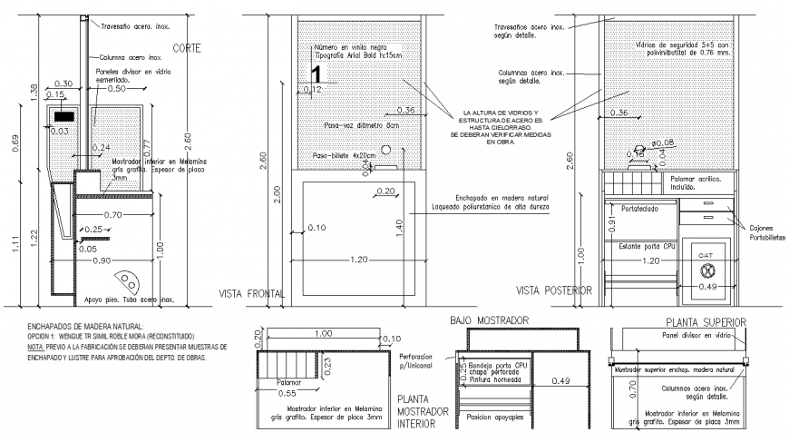 Cashier Table Detail Drawing In Dwg Autocad File Dressing Table Plans Dressing Table Design Table Furniture