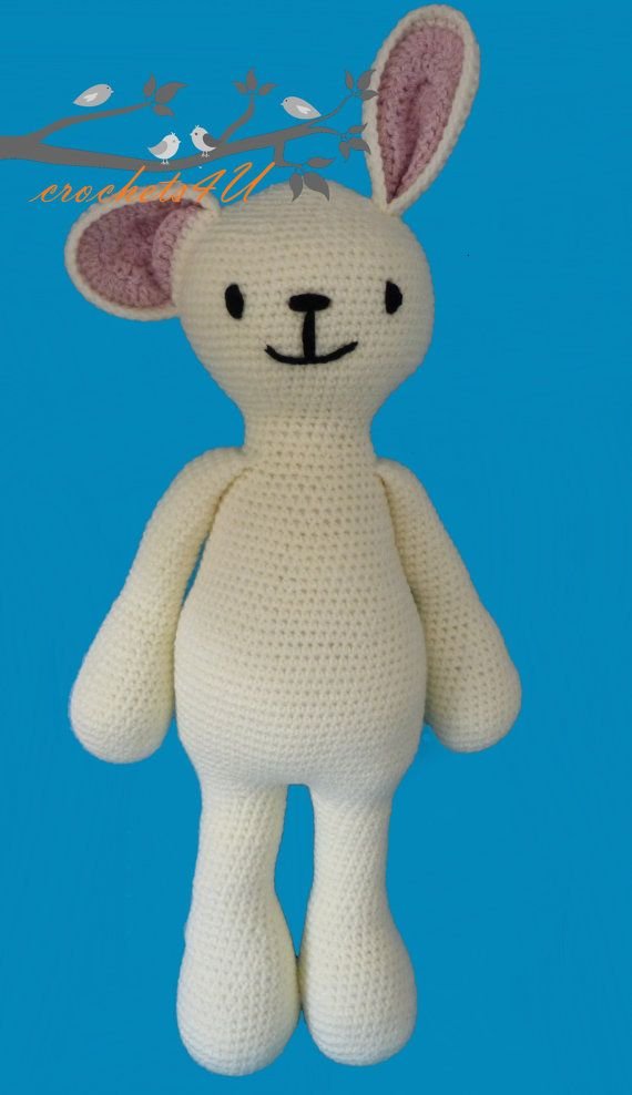 Haakpatroon Knuffel Konijn Rikki Konijn Haken Door Crochets4u