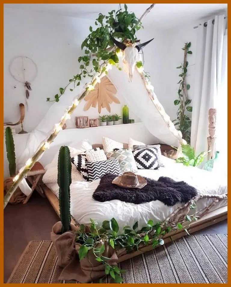 85 Rustic Boho Bedroom Decor Ideas For Small Room Or Apartment