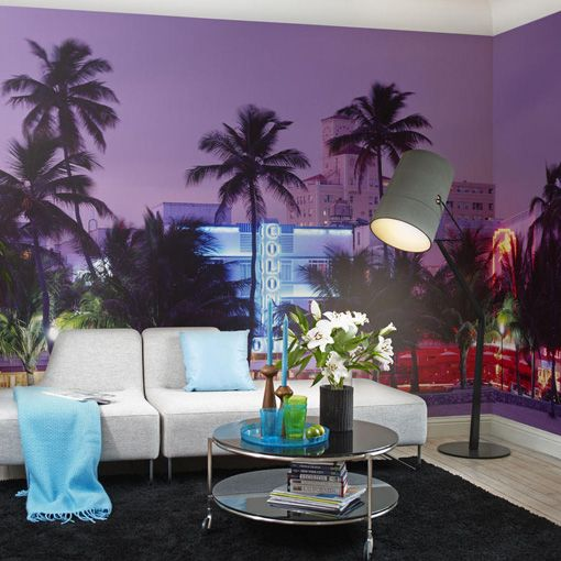 Miami Vice wall art from Mr Perswall | Miami decor, City ...