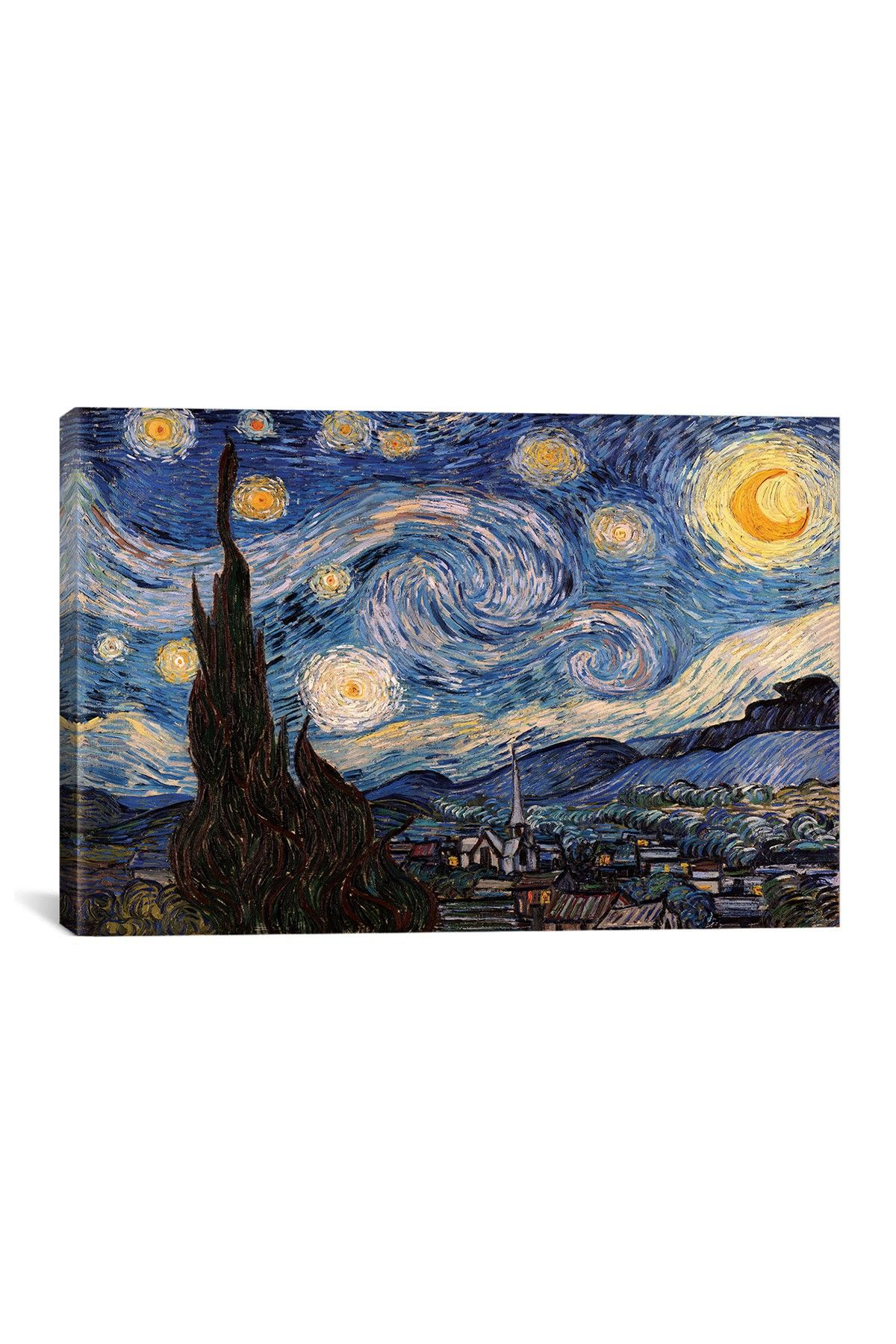 Icanvas The Starry Night By Vincent Van Gogh Wall Art Nordstrom Rack Van Gogh Wall Art Gogh The Starry Night Starry Night