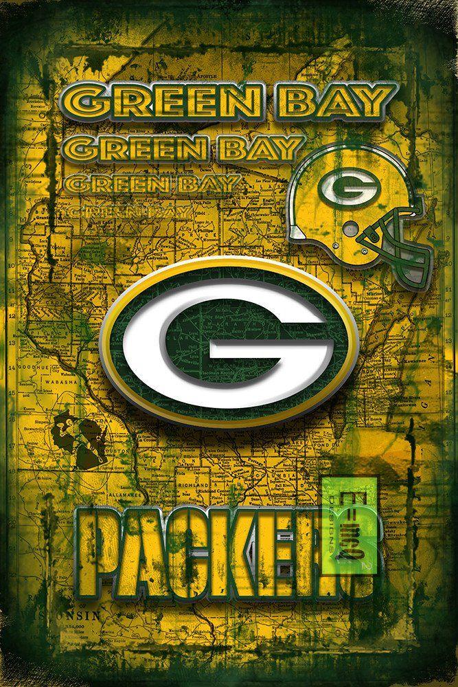 Green Bay Packers Football Poster Green Bay Packers Man